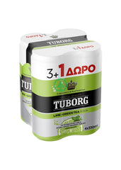 Tuborg Lime Tea Soda 33cl 3+1 Free