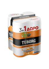 Tuborg Orange Soda 33cl 3+1 Free