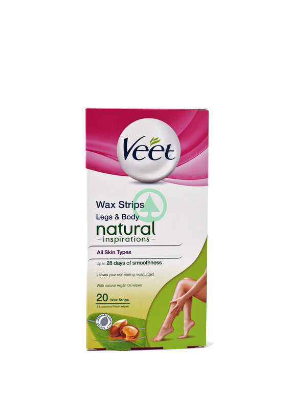 Veet Cold Wax Legs & Body Argan oil Normal Skin 20s