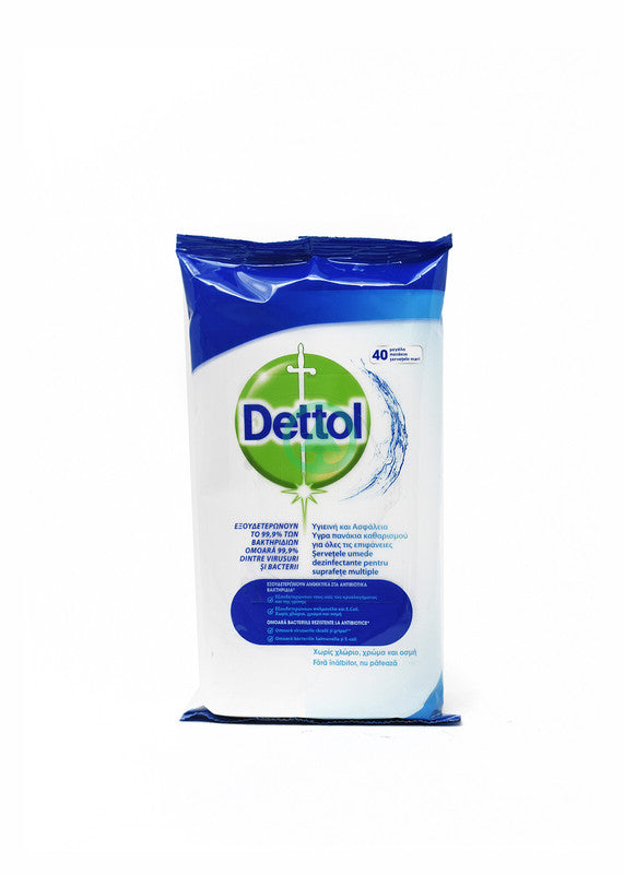 Dettol Surface Clean.Wipes 40S