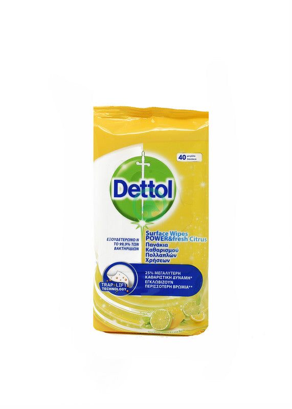 Dettol Surface Wipes Lemon 40s