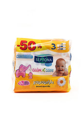 Septona Baby Wipes Chamomile 3X64 -50%