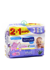 Septona Baby Wipes Aloe 3X75Pc