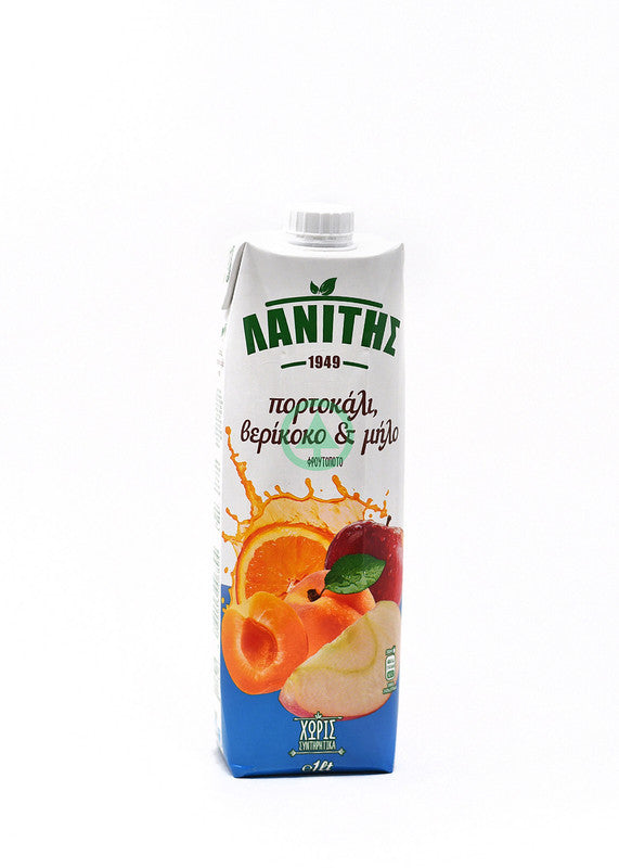Lanitis Orange Apricot&Apple Juice 1L