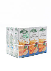 Lanitis Orange, Apricot & Apple Juice 9X250ml