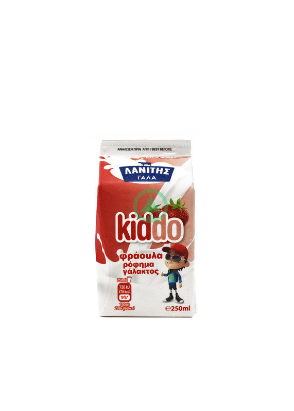 Lanitis Kiddo Strawb250ml