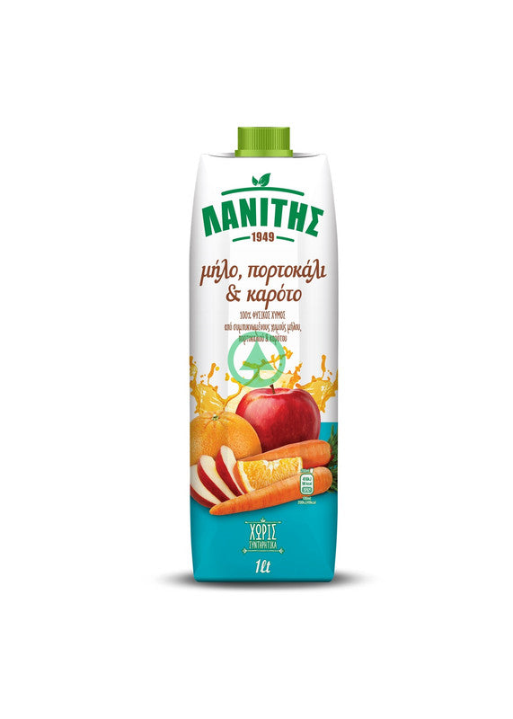 Lanitis Apple, Orange & Carrot Juice 1L