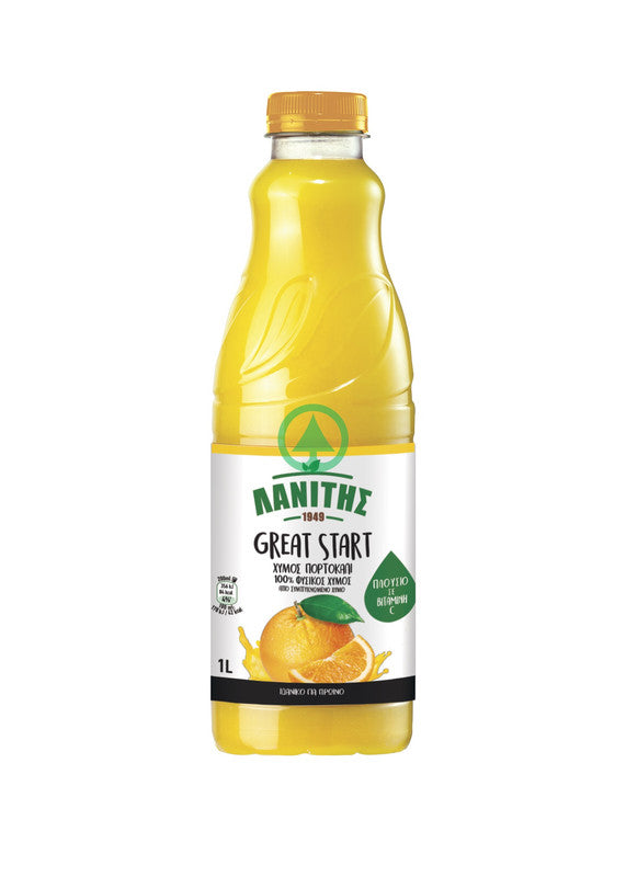 Lanitis Great Start Orange Juice 1L