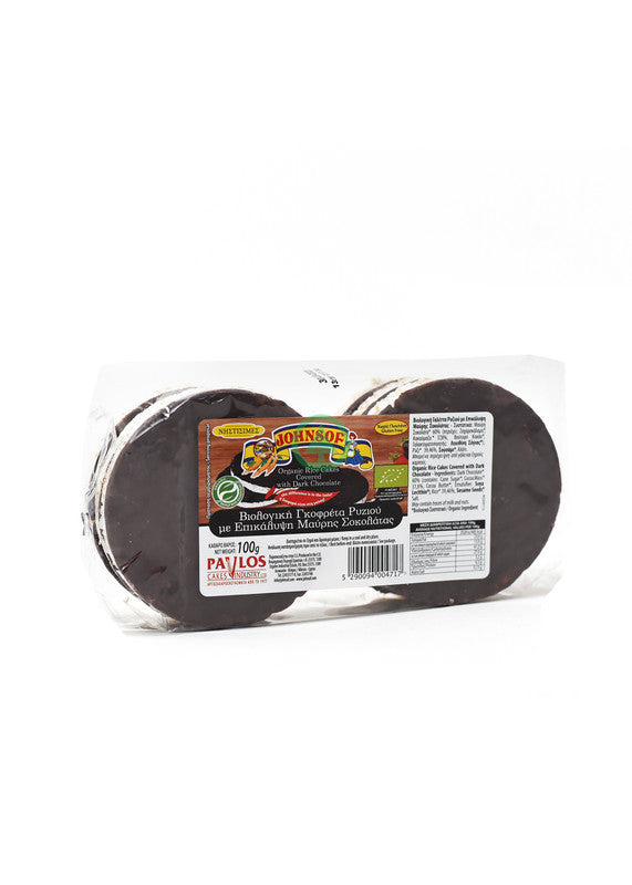 Johnsof Bio Rice Cakes Black Choco 100g