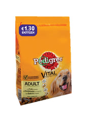 Pedigree Adult Chicken 3Kg -€1.30