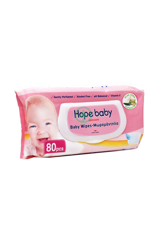 Hope Baby Wipes Pink Large 80 Pc