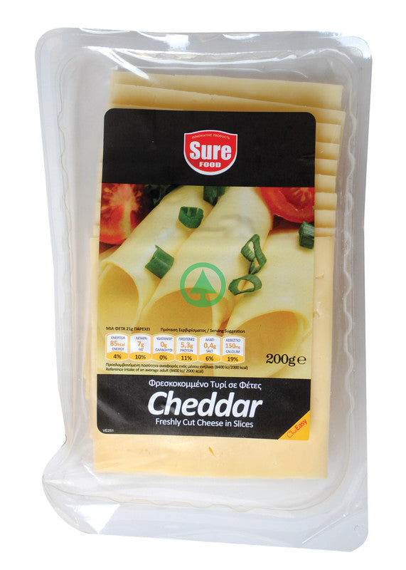 Sure Cheddar Slices 200g