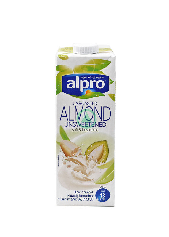 Alpro Almond Unroasted Unsweetened 1L
