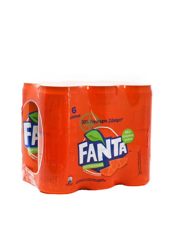 Fanta Orange Sleek Can 6X330ml
