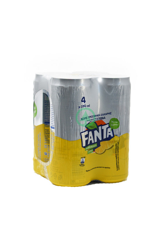 Fanta Lemon Zero Stevia 4X330ml