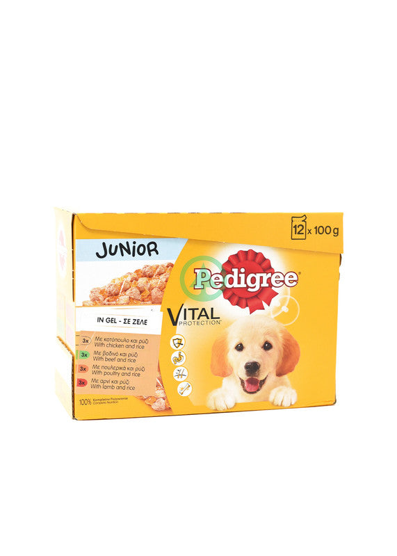 Pedigree Pouch Junior Variety 12X100G