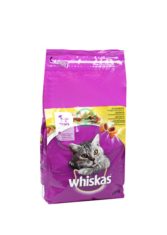 Whiskas Dry Chicken 3.8Kg