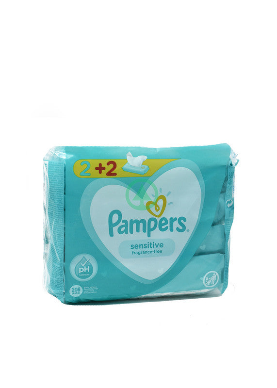 Pampers Wipes Sensitive X52 2+2 Free