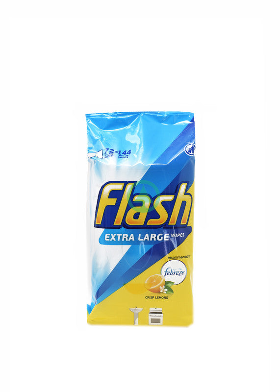 Flash Cleaning Wipe Lemon 72Pc