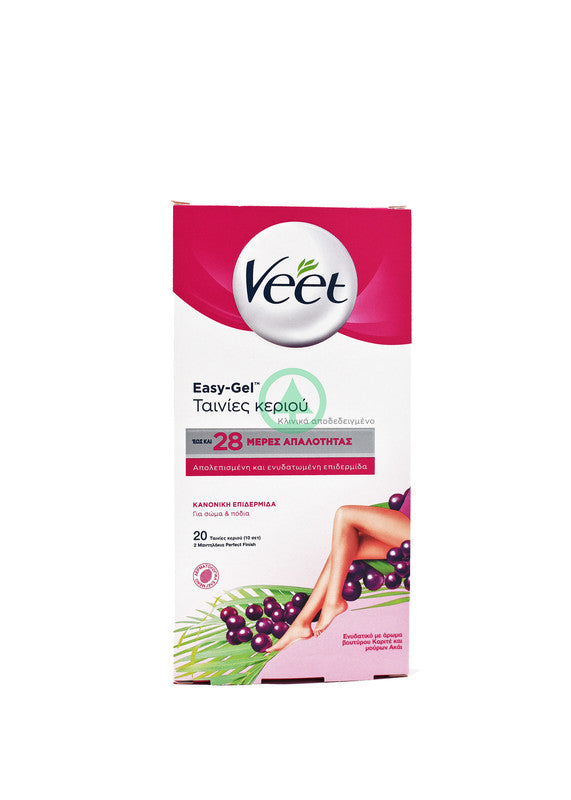 Veet Cold Wax Legs & Body Acai Normal Skin 20s