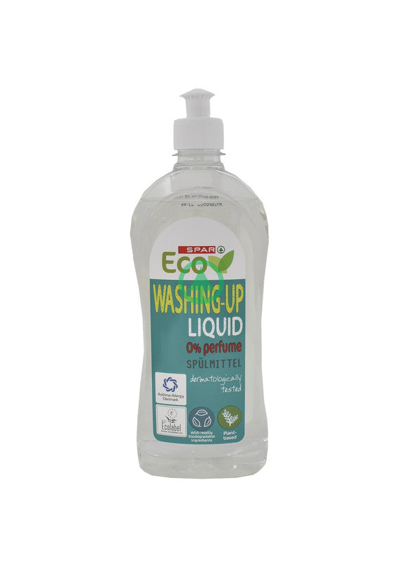 Spar Eco Dishwashing Liquid Fragrance Free 500ml