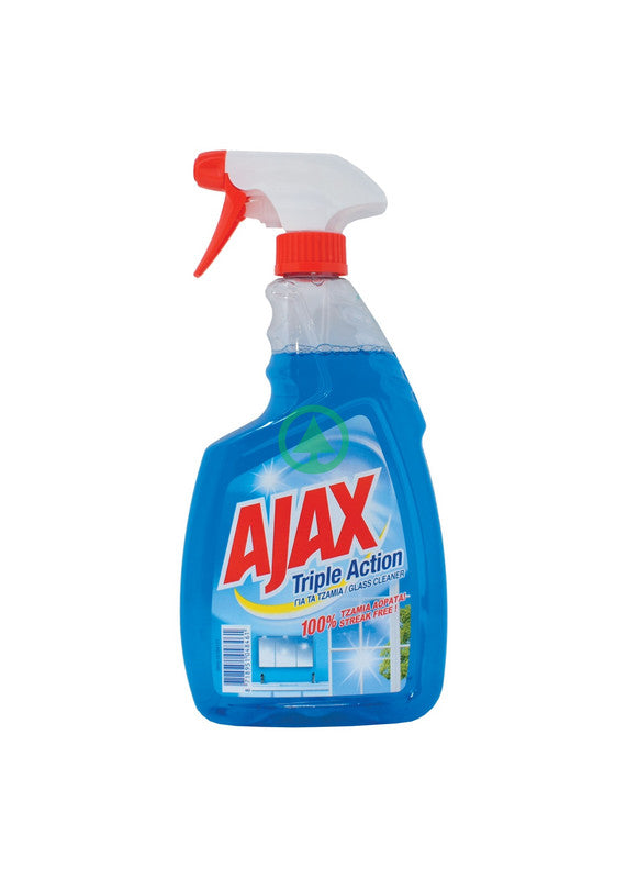 Ajax Glass Blue Trig 750ml
