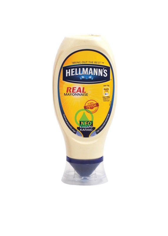 Hellmans Real Mayonnaise Top Down 430ml