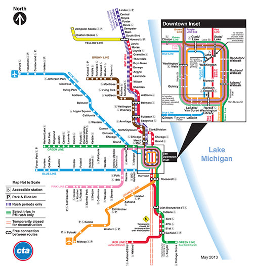 "Chicago ""L"" Map"