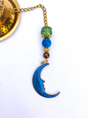 Celestial Blue Moon and Gold Teapot Infuser