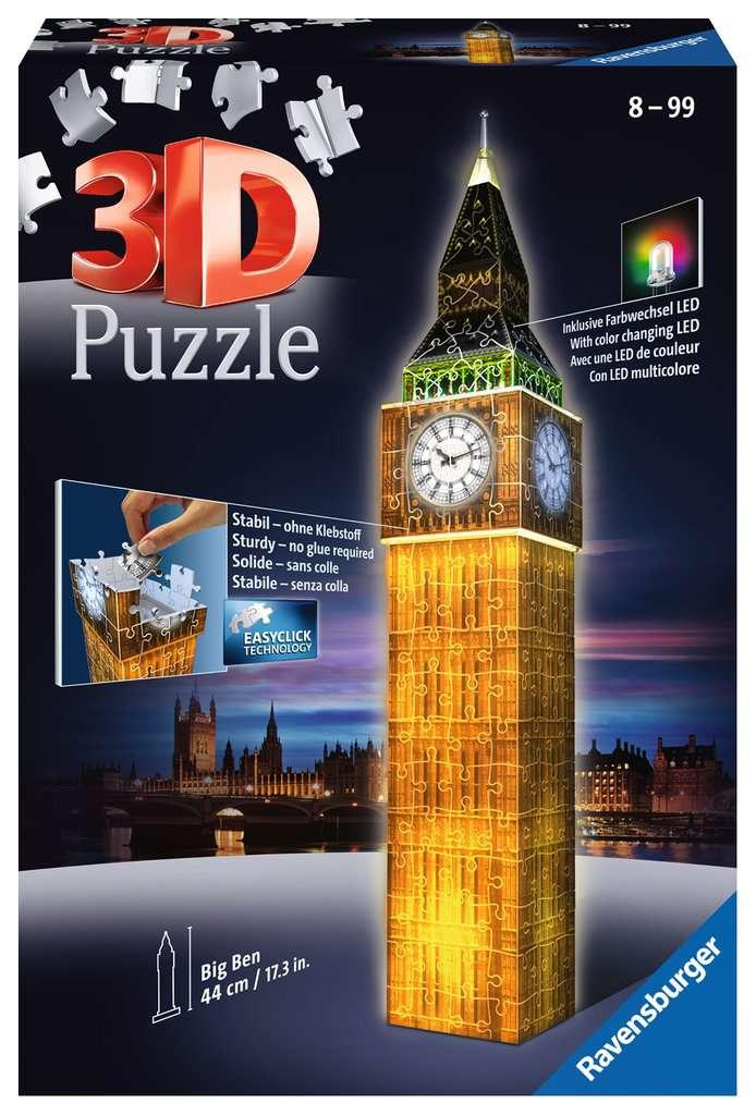 Big Ben at Night 3D Puzzle with LED