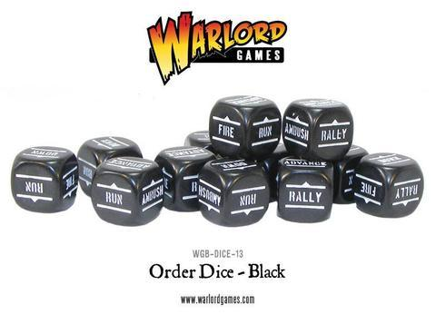 Bolt Action Orders Dice Black