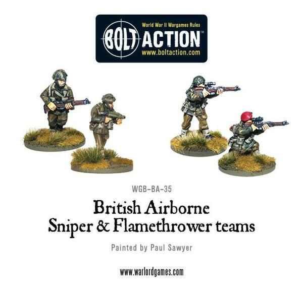 British Airborne Flamethrower and Sniper Team