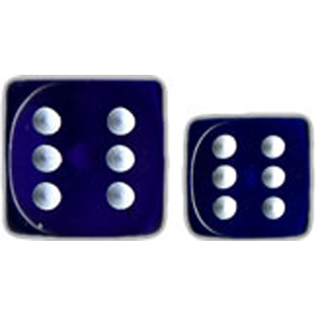 Chessex 12mm d6 Dice Set: Blue w/White (36)