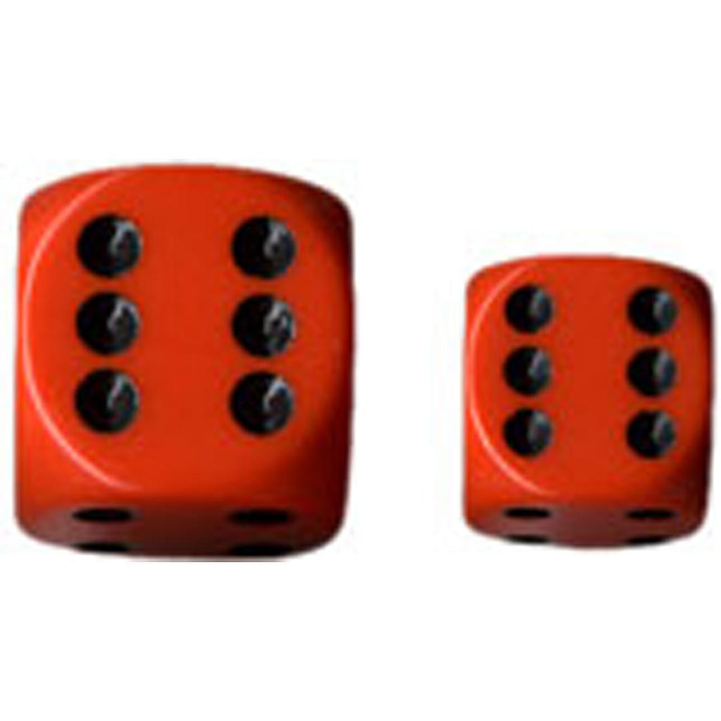 Chessex 12mm d6 Dice Set: Orange w/Black (36)