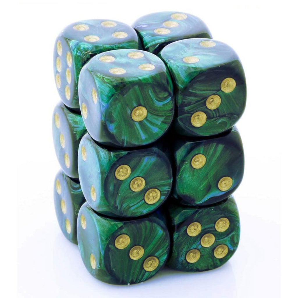 Chessex 16mm Dice Block: Scarab Jace w/ Gold (12)