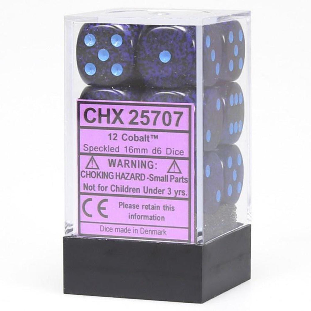 Chessex 16mm Dice Block: Speckled Cobalt (12)