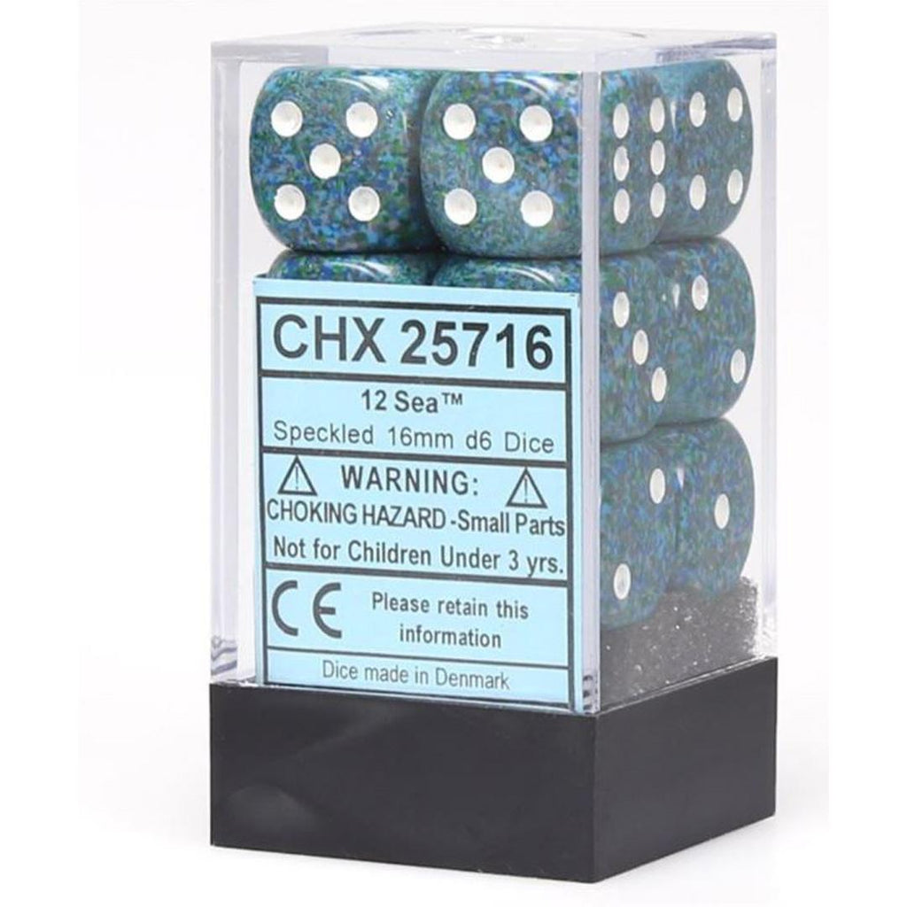 Chessex 16mm Dice Block: Speckled Sea (12)
