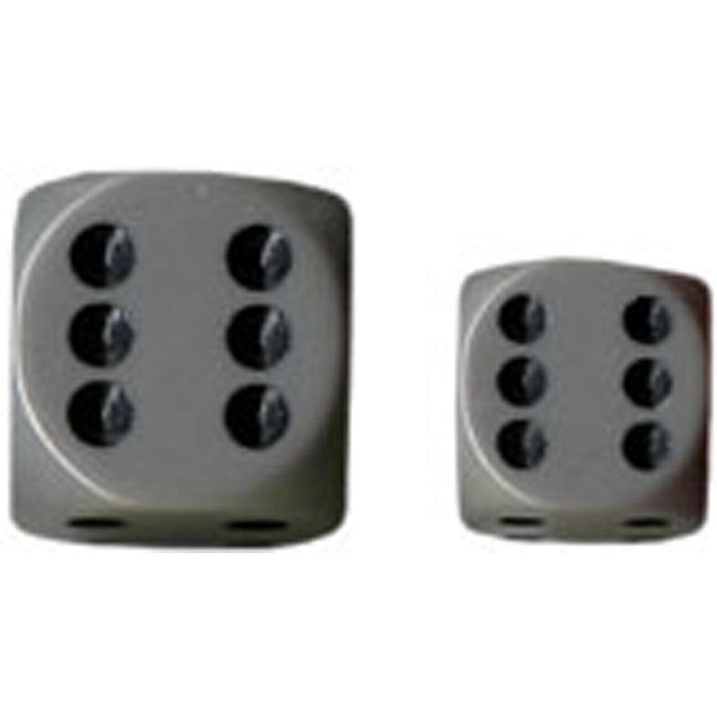 Chessex 16mm d6 Dice Set: Grey w/ Black (12)