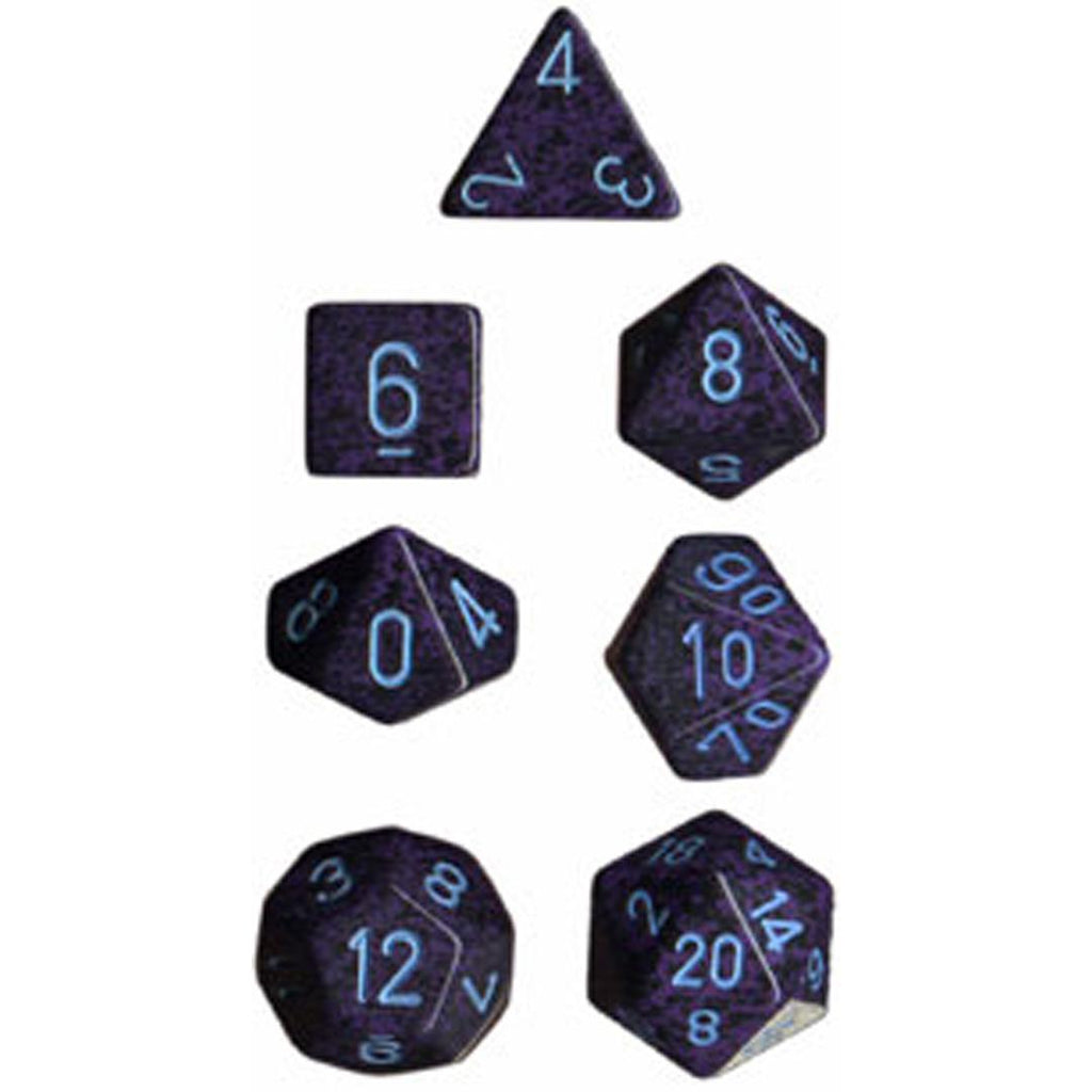 Chessex Polyhedral Dice Set: Cobalt Speckled (7)