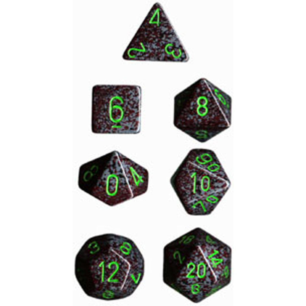 Chessex Polyhedral Dice Set: Earth Speckled (7)