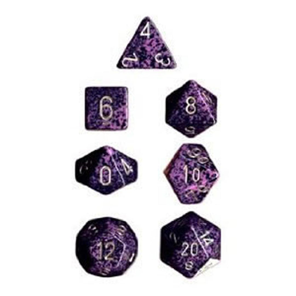 Chessex Polyhedral Dice Set: Hurricane Speckled (7)
