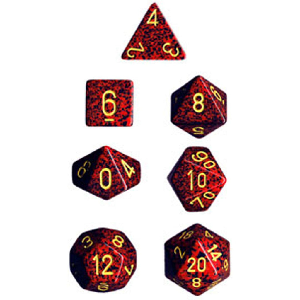 Chessex Polyhedral Dice Set: Mercury Speckled (7)