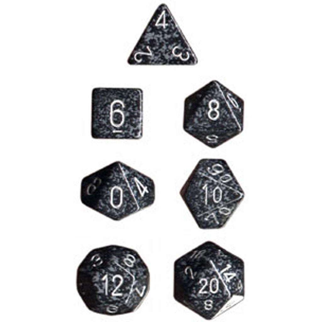 Chessex Polyhedral Dice Set: Ninja Speckled (7)