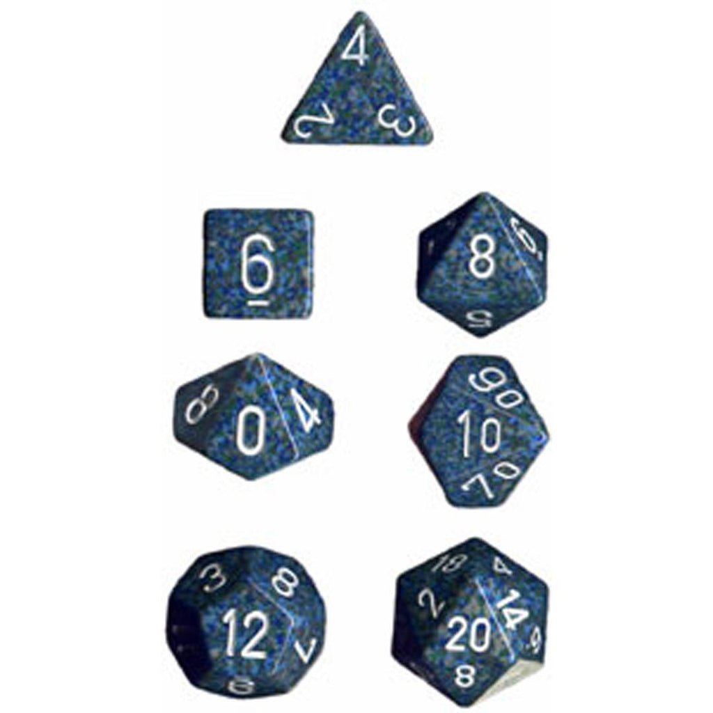 Chessex Polyhedral Dice Set: Sea Speckled (7)