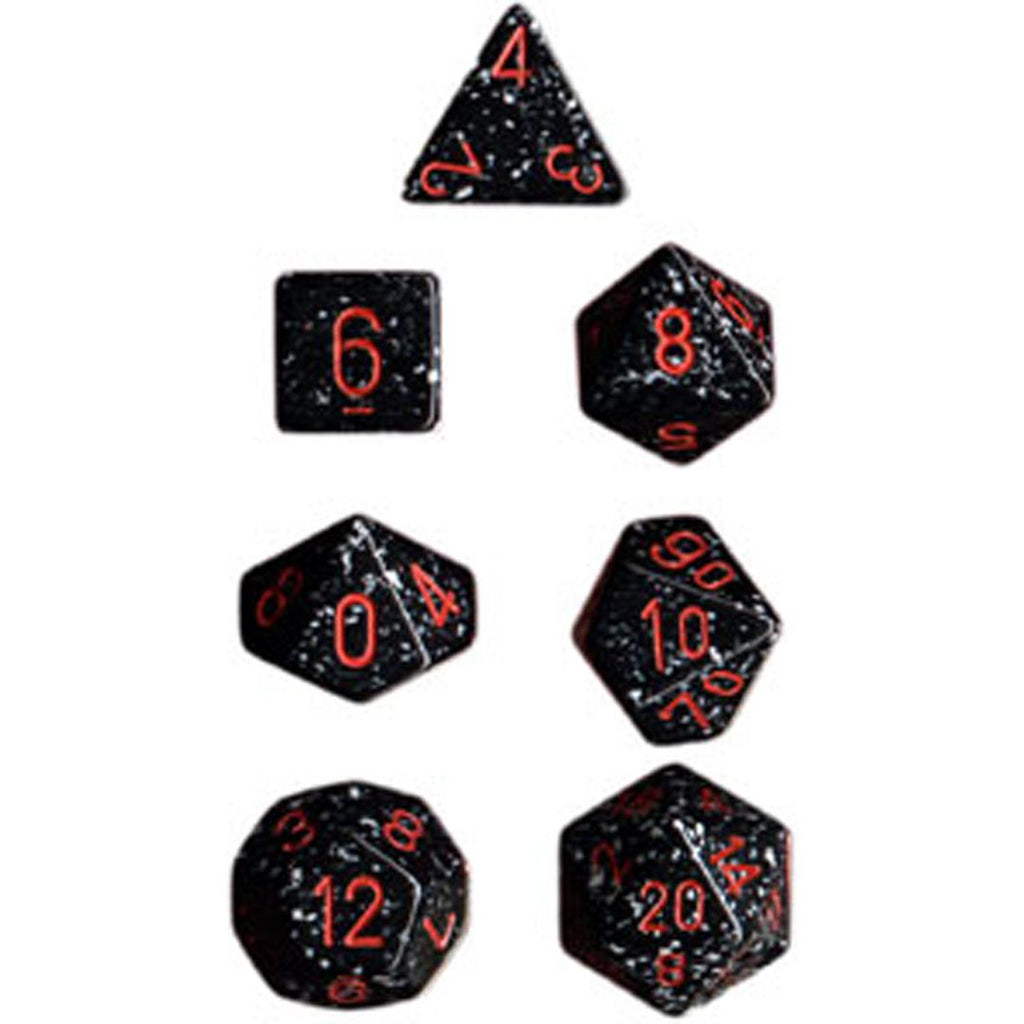 Chessex Polyhedral Dice Set: Space Speckled (7)
