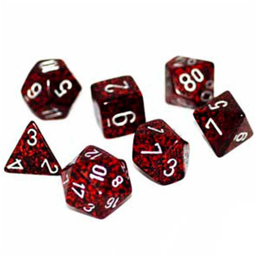 Chessex Polyhedral Dice Set: Speckled Silver Volcano (7)