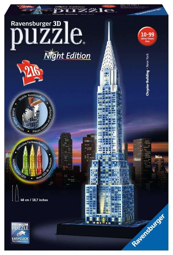 Chrysler Building at Night 3D Puzzle with LED