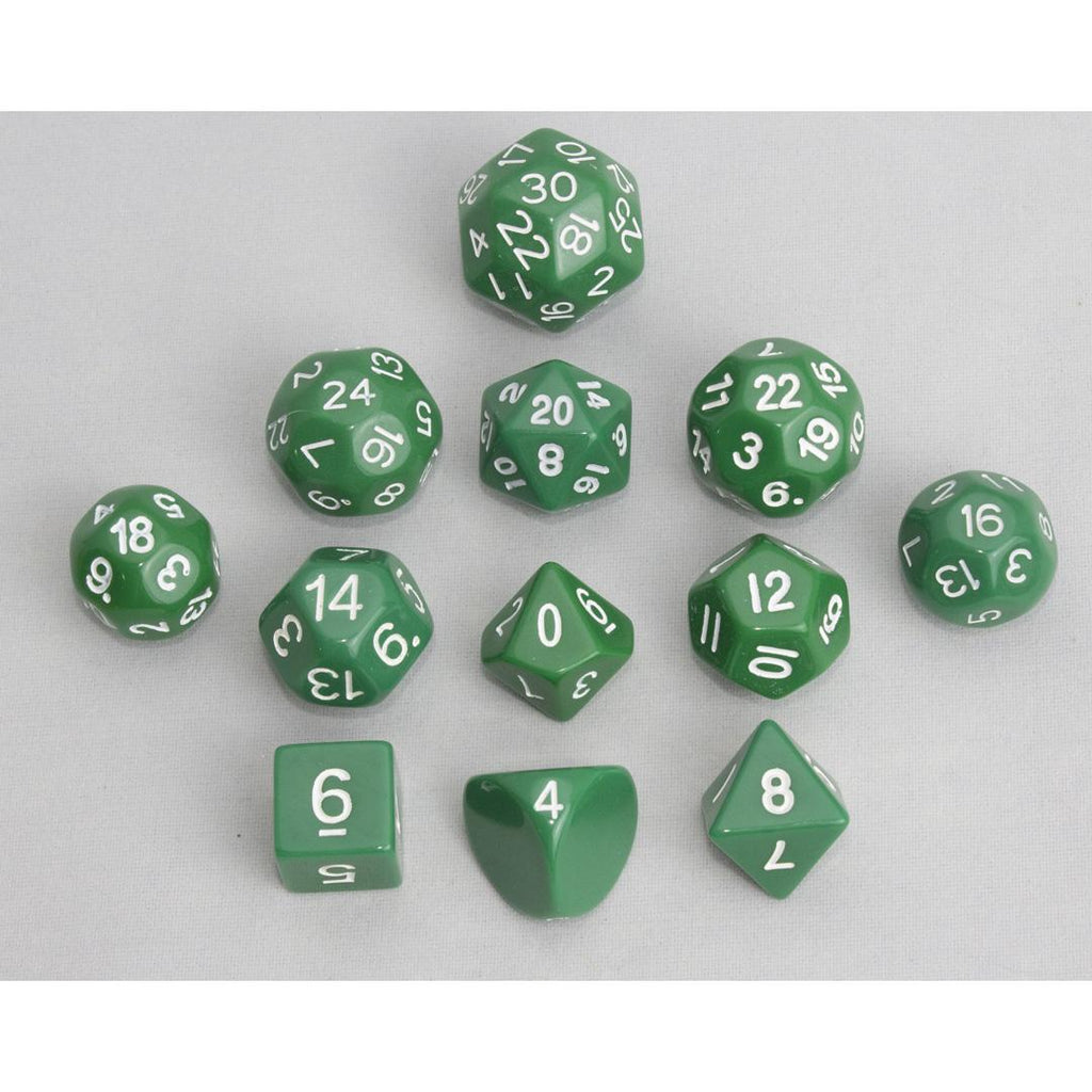 Dice, Green (12 pcs)