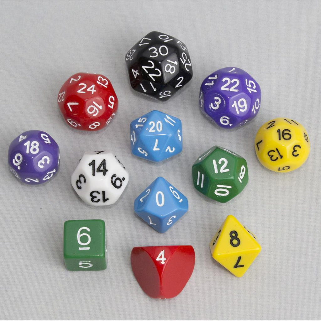 Dice, Multi-colored (12 pcs)