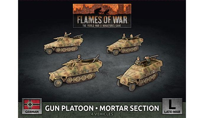 Flames of War: German Armored Gun Platoon/Mortar Section